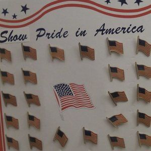 36 American Flag pins. On board NWTS